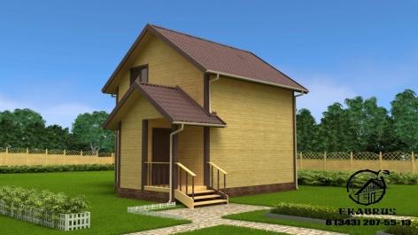 Проект Д-18. Дом из бруса 7,6х6
