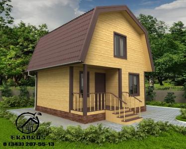 Проект Д-3. Дом из бруса 6х6