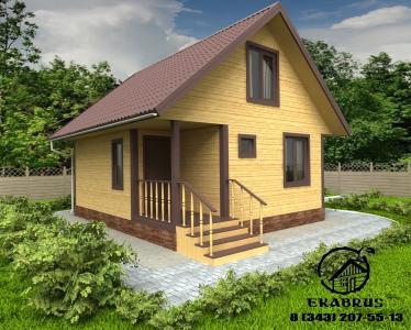 Проект Д-4. Дом из бруса 6х7 м.