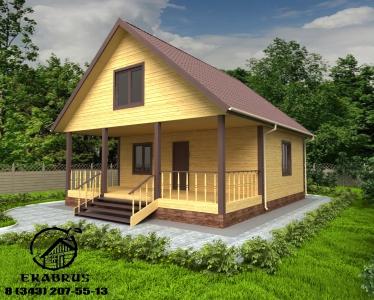 Проект Д-15. Дом из бруса