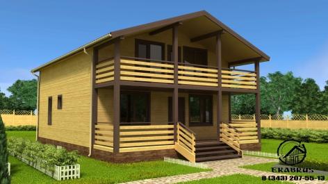 Проект Д-12. Дом из бруса 12,5x8