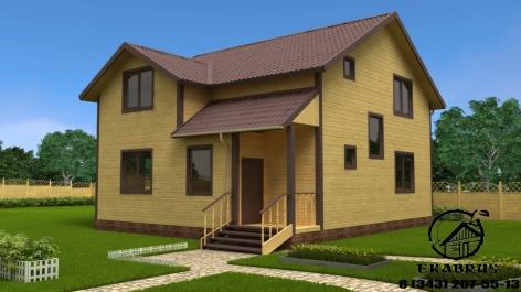 Проект Д-11. Дом из бруса 10х9