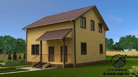 Проект Д-8. Дом из бруса 9х9