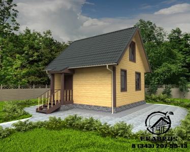 Проект Д-2. Дом из бруса 6х6