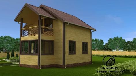 Проект Д-19. Дом из бруса 7,2х8