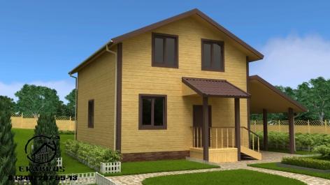 Проект Д-10. Дом из бруса 10х9