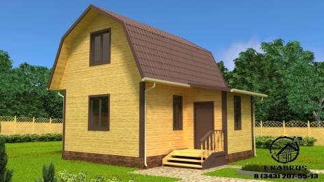 Проект Д-14. Дом из бруса 6х7