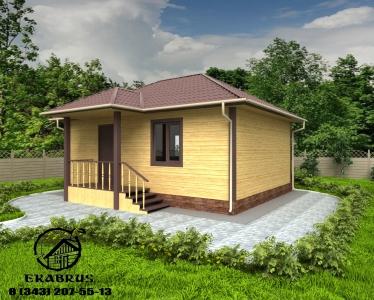 Проект Д-5. Дом из бруса 6х8