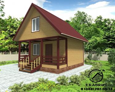 Проект Д-1. Дом из бруса 6.5х6
